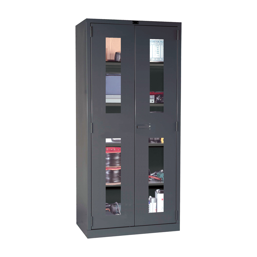 Bon DuraTough Storage Cabinet With Safety View Doors